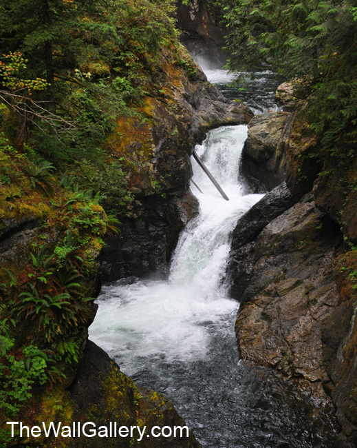 This is the water coming from the base of the top fall fall (not visible) rushing to the waterfall pictured below