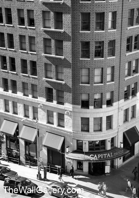 Street Corner Black and White