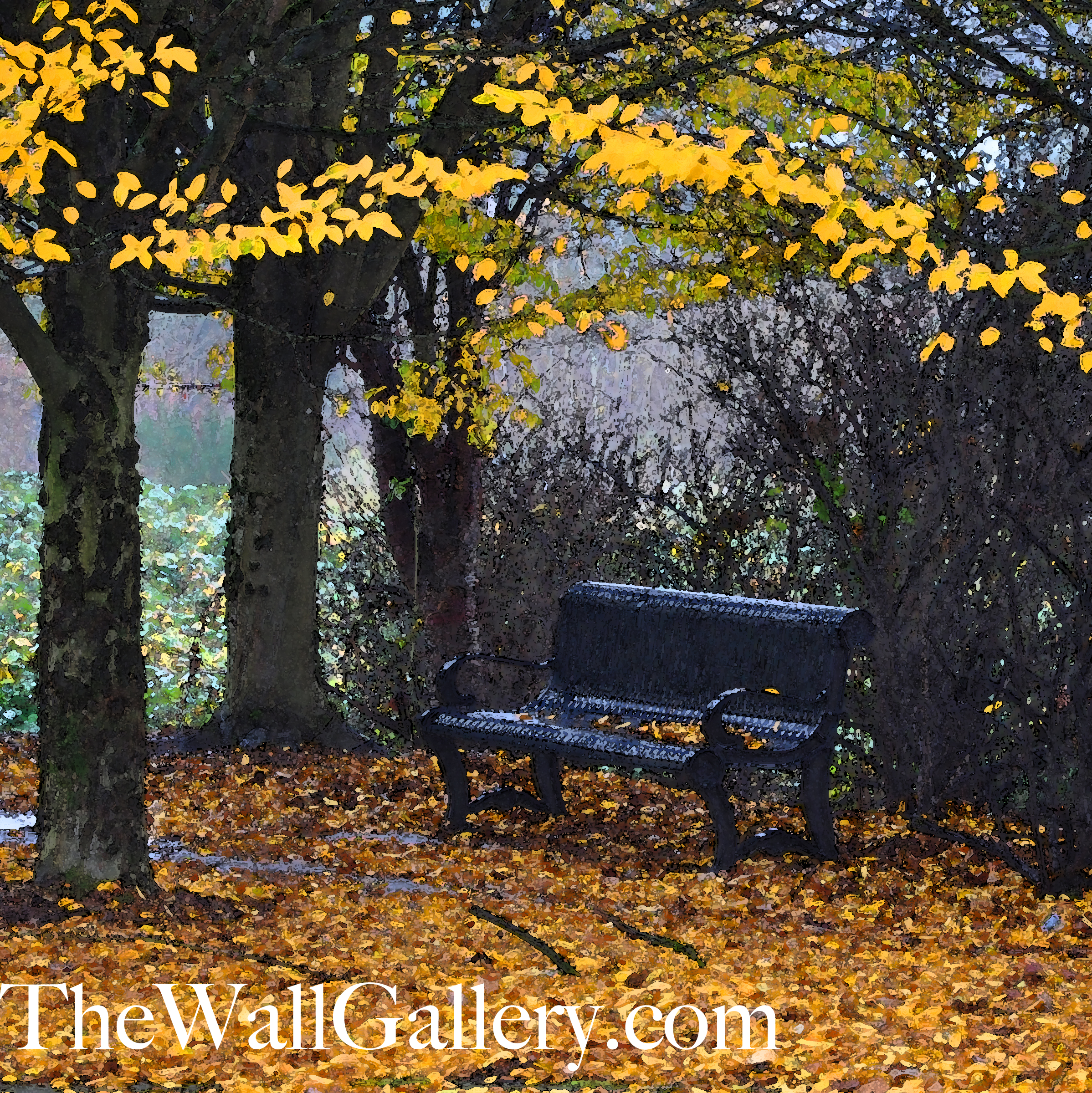 The Bench Watercolor 1