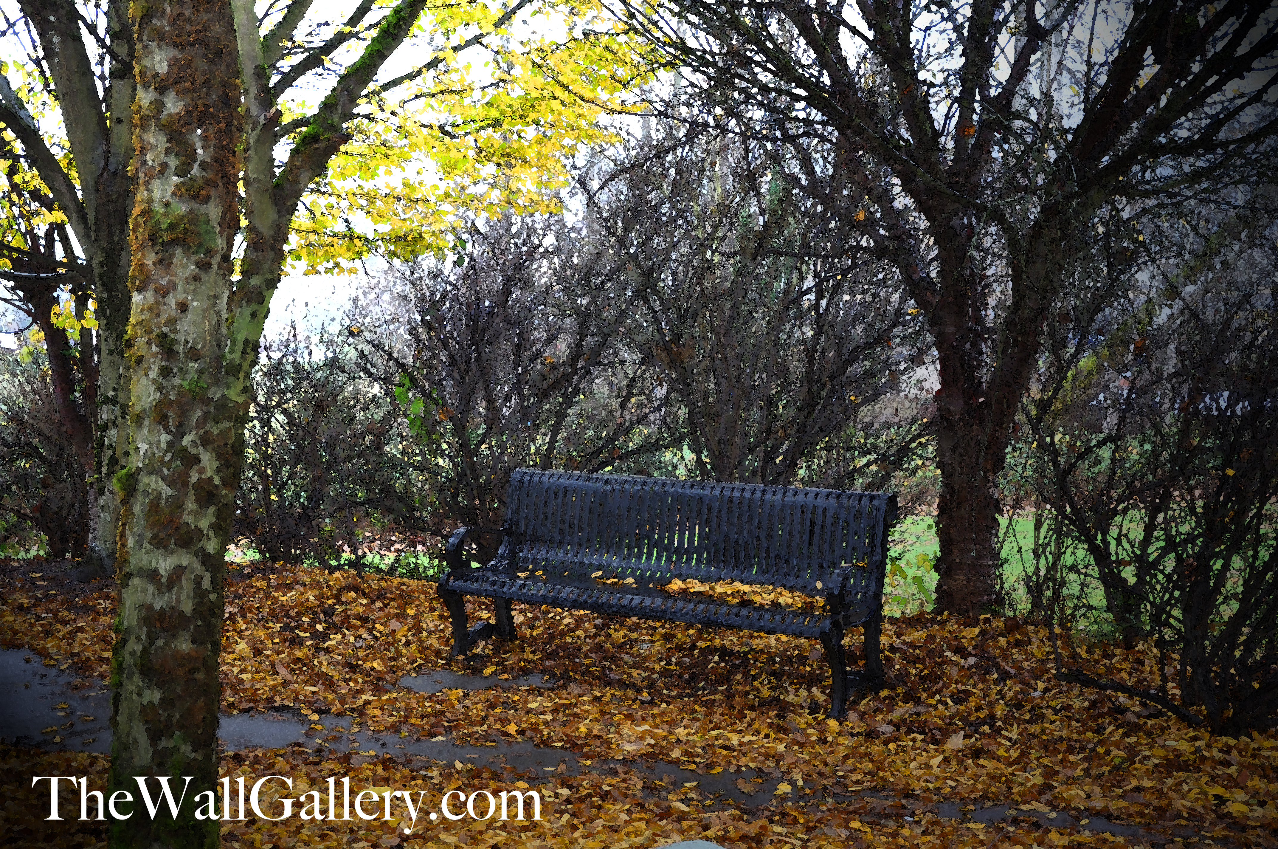 The Bench Watercolor 2