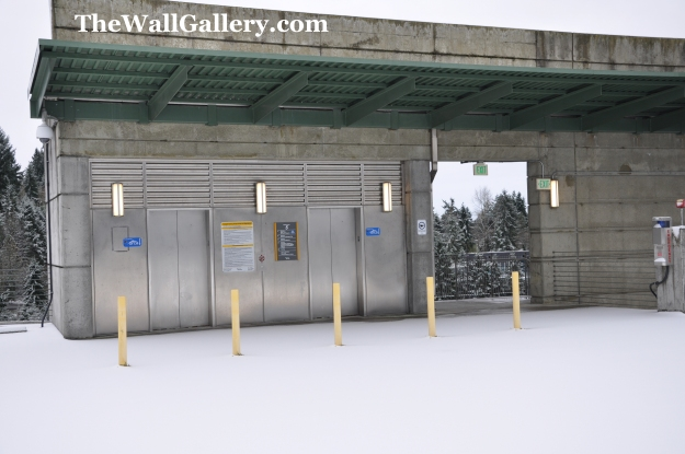 Transit Center Elevators Before Morning Commuters filled the top floor of parking