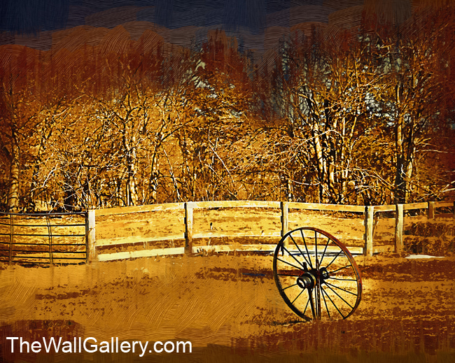 The Wheel and The Fence - Oil