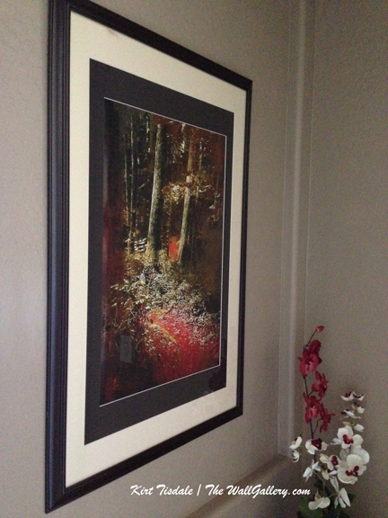 """The Path"" matted and framed"