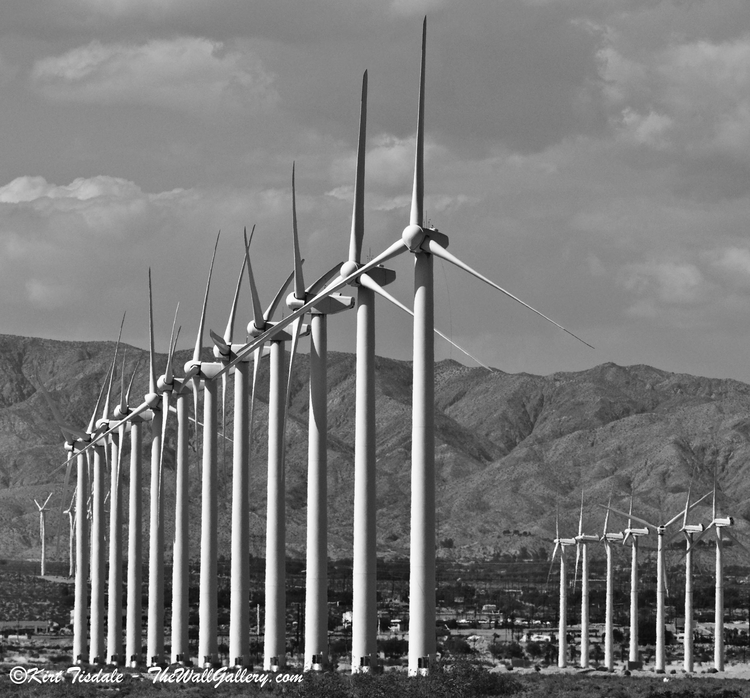 Wind Turbine: Black and White
