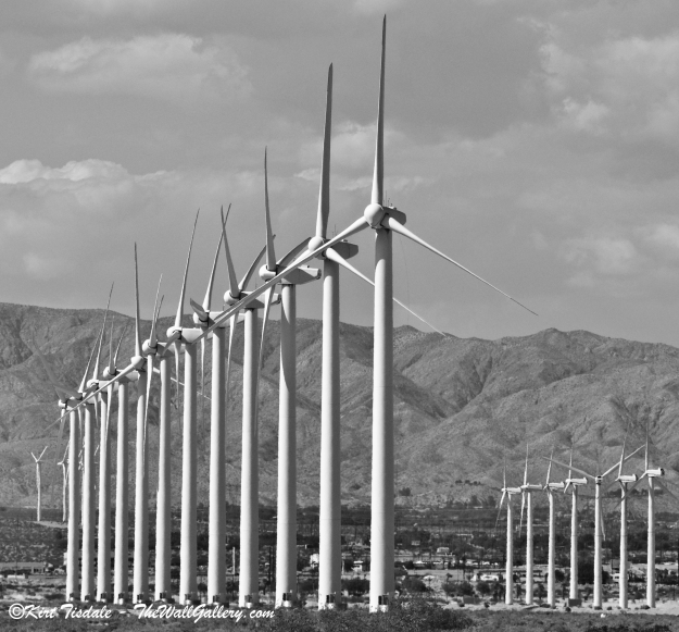 Wind Turbine: Black and White