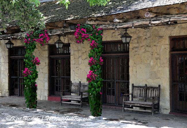 The Alamo Adobe with Bougainvillea