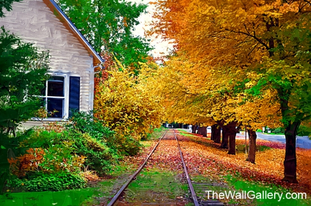 Railroad Tracks and The House