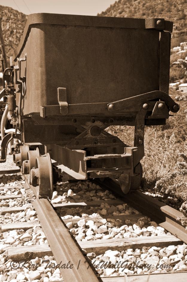 Mining Cart Sepia Tone