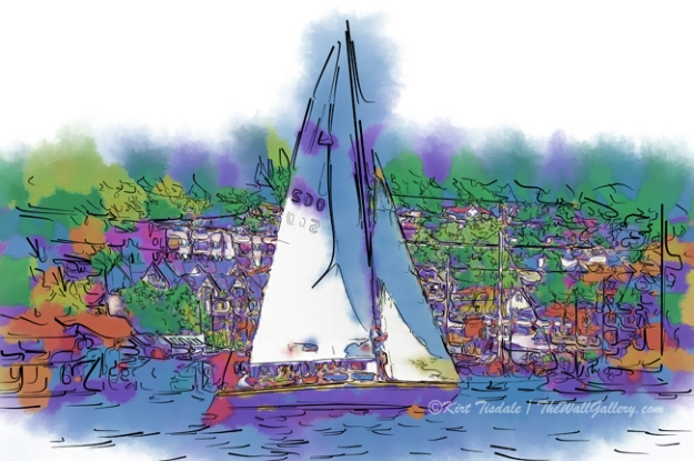 Purple Sailboat