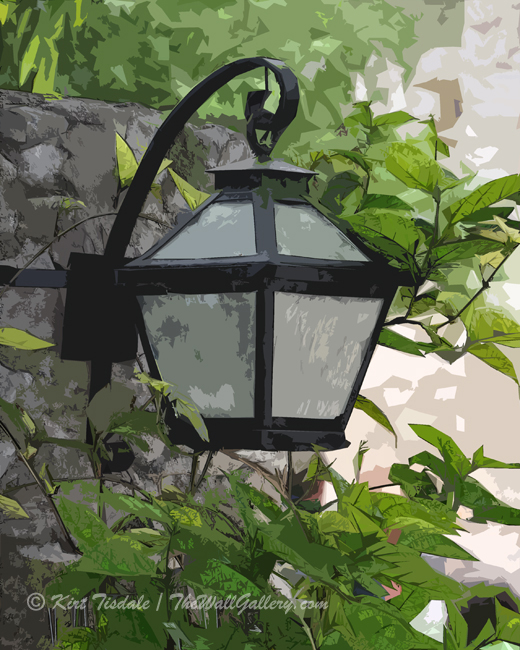 Wall Art Print: Garden Lamp