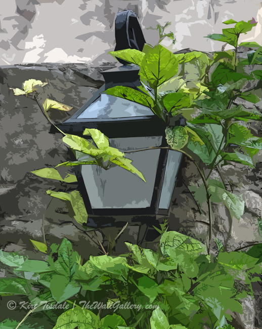 Wall Art Print: Yard Lamp and Vine