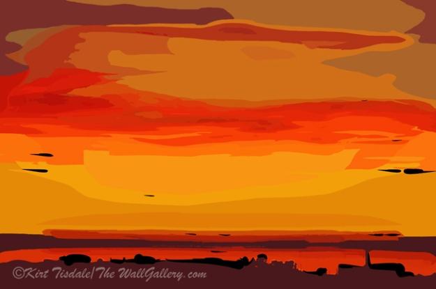Orange Ocean Sunset
