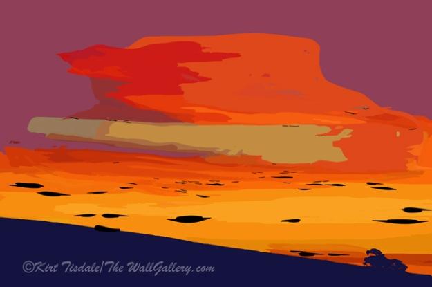 Orange Hillside Sunset
