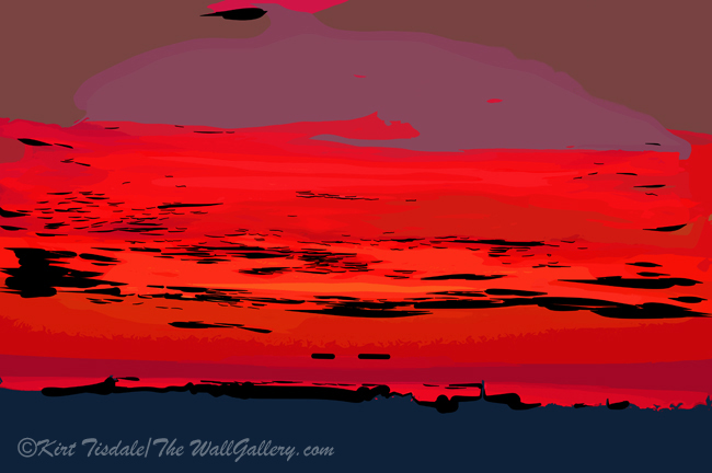 Red Ocean Sunset