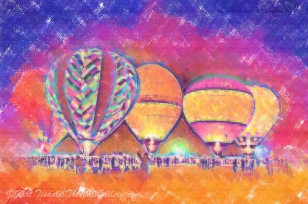 Five Glowing Hot Air Balloons In Pastel