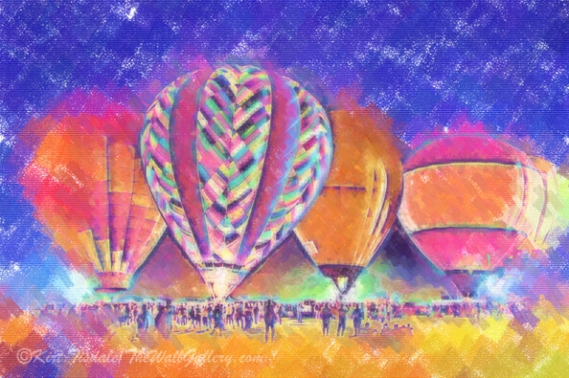 Hot Air Balloons Night Festival In Pastel
