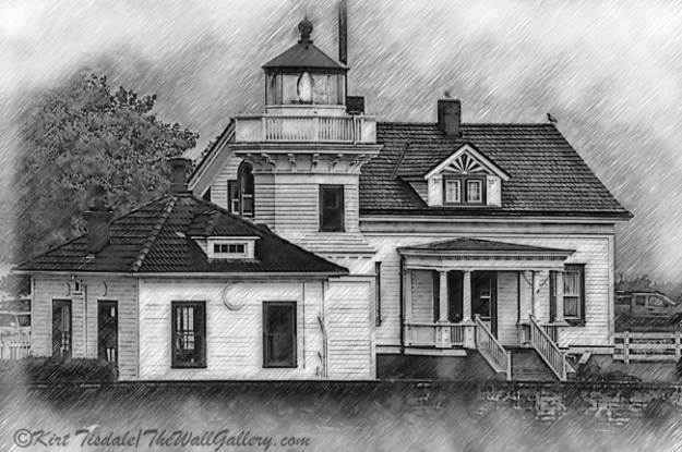 Mukilteo Lighthouse Sketched