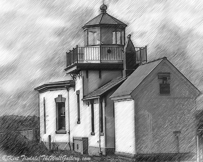 West Point Lighthouse Sketched