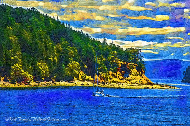 Sailboat From San Juan Island