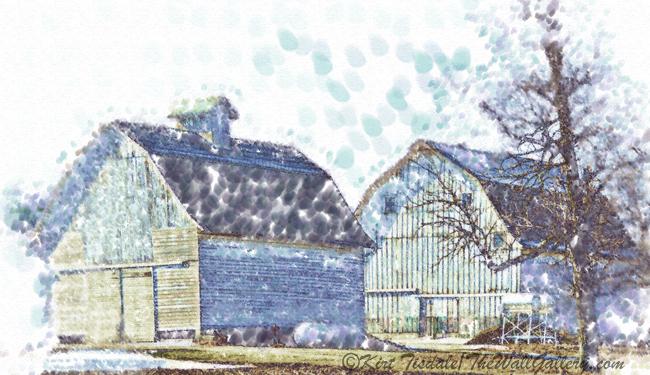 """""""Twin Iowa Barns"""""""