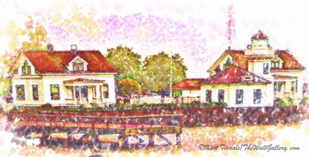 """Mukilteo in Pointillism"""
